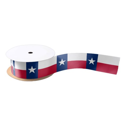 Patriotic Ribbon with Flag of Texas