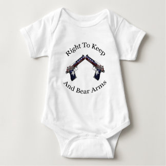 Patriotic Right To Keep And Bear Arms Baby Bodysuit