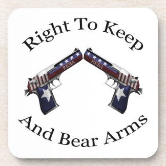 Patriotic Right To Keep And Bear Arms Coaster