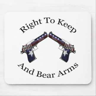 Patriotic Right To Keep And Bear Arms Mousepads