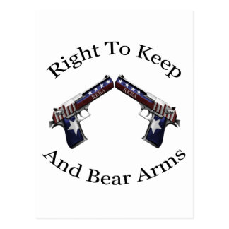 Patriotic Right To Keep And Bear Arms Postcard