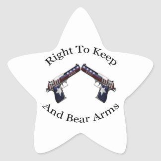 Patriotic Right To Keep And Bear Arms Star Sticker