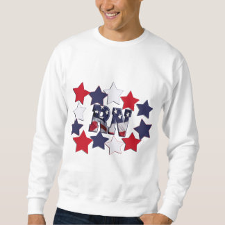 PATRIOTIC RN WITH STARS RED WHITE & BLUE SWEATSHIRT