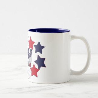 PATRIOTIC RN WITH STARS RED WHITE & BLUE Two-Tone COFFEE MUG
