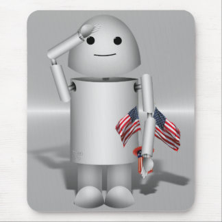 Patriotic Robo-x9 - Remember Memorial Day Mouse Pads
