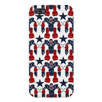 Patriotic Robot Soldier Red White Blue Stars USA iPhone SE/5/5s Cover