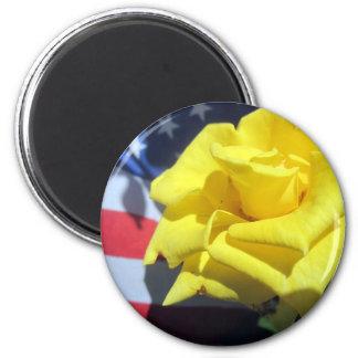 Patriotic Rose Magnet
