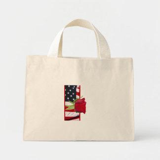 Patriotic Rose Mini Tote Bag