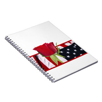 Patriotic Rose Notebook