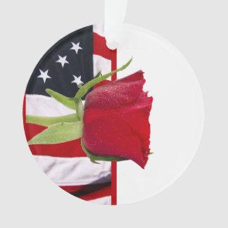 Patriotic Rose Ornament