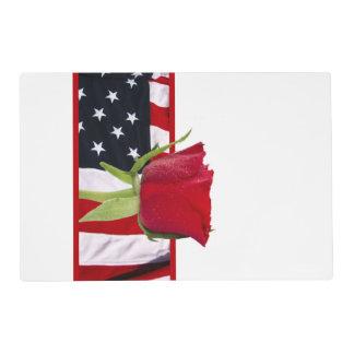 Patriotic Rose Placemat