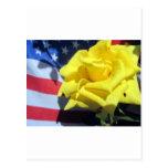 Patriotic Rose Postcard