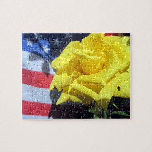 Patriotic Rose Puzzle