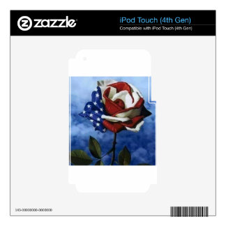 Patriotic Rose Skins For iPod Touch 4G