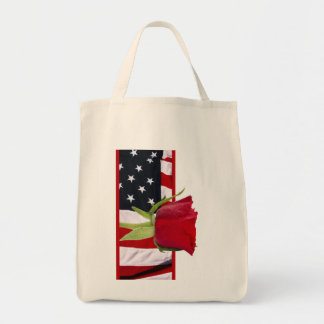 Patriotic Rose Tote Bag