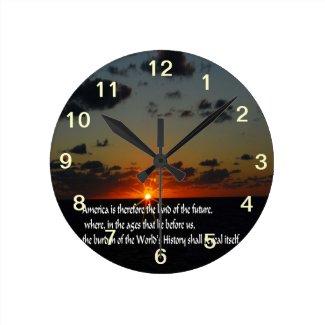 Patriotic Round Clock