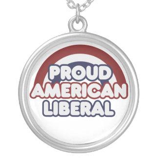Patriotic Round Pendant Necklace