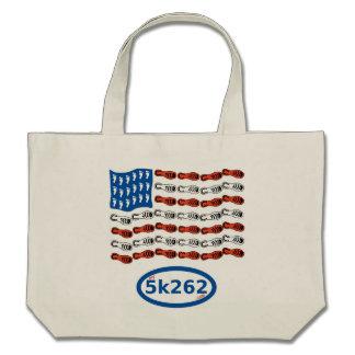Patriotic runner canvas bags
