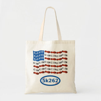 Patriotic runner (US Flag with feet and shoes) Tote Bag