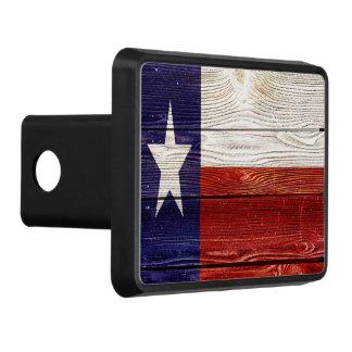 Patriotic Rustic Wood Texas Flag Hitch Cover