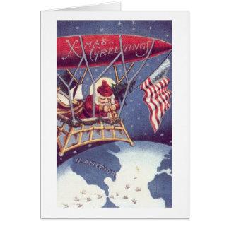 Patriotic Santa #2 Card
