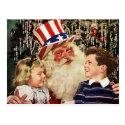 Patriotic Santa Claus Postcard