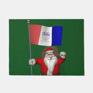 Patriotic Santa Claus Visiting Cleveland Ohio Doormat