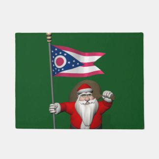 Patriotic Santa Claus Visiting Ohio Doormat