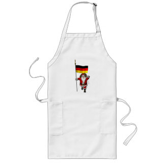 Patriotic Santa Claus With Ensign Of Germany Long Apron