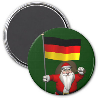 Patriotic Santa Claus With Ensign Of Germany Magnet