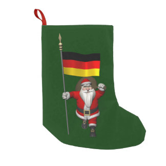 Patriotic Santa Claus With Ensign Of Germany Small Christmas Stocking