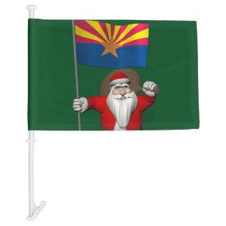 Patriotic Santa Claus With Flag Of Arizona
