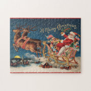 Patriotic Santa Merry Christmas Puzzle