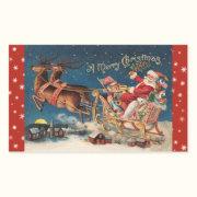 Patriotic Santa Merry Christmas Stickers