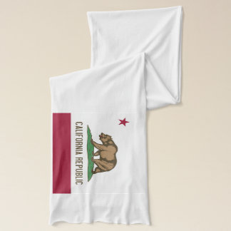 Patriotic Scarf with Flag of California