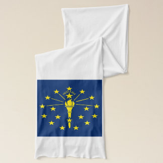 Patriotic Scarf with Flag of Indiana