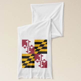 Patriotic Scarf with Flag of Maryland