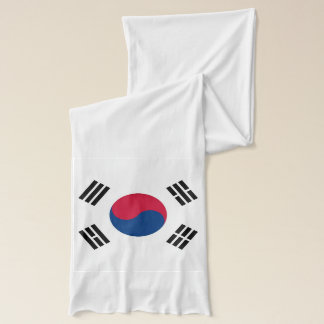 Patriotic Scarf with Flag of South Korea