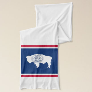 Patriotic Scarf with Flag of Wyoming State