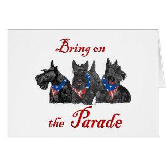 Patriotic Scotties Await the Big Parade Cards