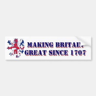 Patriotic Scottish Great Britain design Bumper Sticker