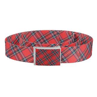 Patriotic Scottish Royal Clan Stewart Plaid Tartan Belt