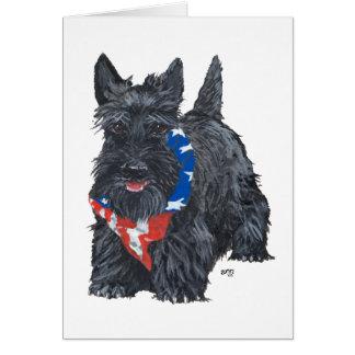 Patriotic Scottish Terrier Cards