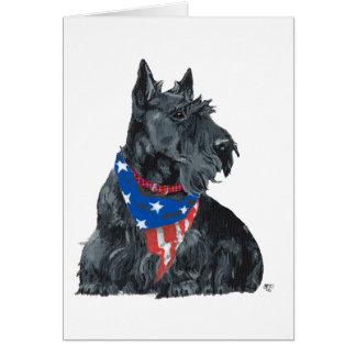 Patriotic Scottish Terrier Greeting Cards