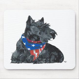 Patriotic Scottish Terrier Mouse Pads