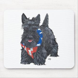 Patriotic Scottish Terrier Mousepads