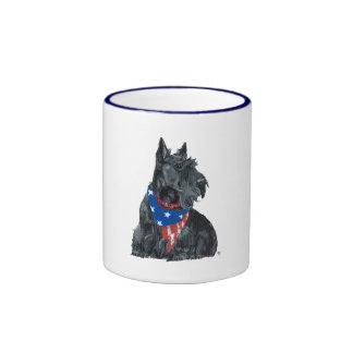 Patriotic Scottish Terrier Coffee Mug