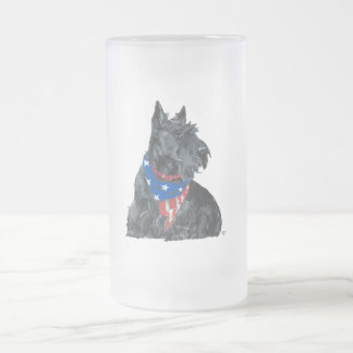 Patriotic Scottish Terrier Coffee Mugs
