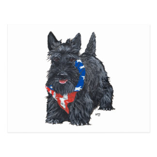 Patriotic Scottish Terrier Postcards