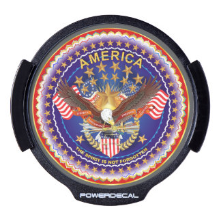 Patriotic See it in Action view About Design Below LED Window Decal